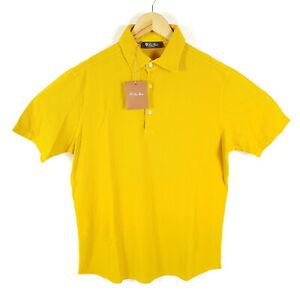 Loro-Piana-Poloshirt-Herren-L-Orange-Kurzarm-Made-In-Italy-Neu