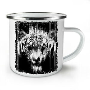 Shadow Ghost Tiger NEW Enamel Tea Mug 10 oz | Wellcoda