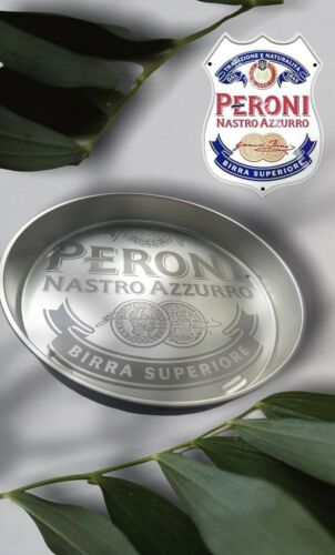 Nastro Azzurro PERONI bière Servier Plateau métal 35 cm anti-dérapant NEUF