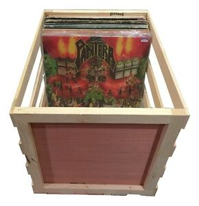 Image Is Loading 18 034 Wooden Vinyl Record Storage Crate Album