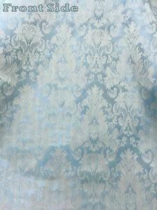 Damask fabric ebay - Fatigue Blue Faux Silk Damask Jacquard 56 Quot W Fabric