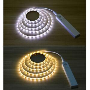 1-3m LED Stripe mit PIR-Bewegungsmelder Lichtband Streifen Batteriebetrieb Band