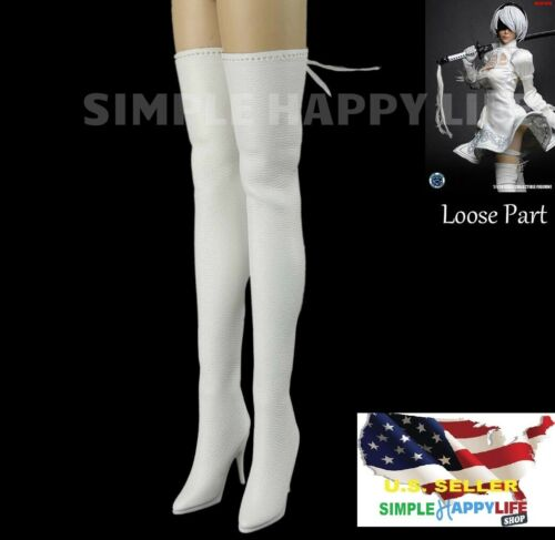 1//6 scale woman WHITE long Boots Nier Automata YoRHa No.2 B 2A for PHICEN ❶USA❶