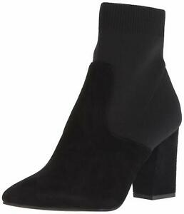 Steve-Madden-Womens-Remy-Pointed-Toe-Ankle-Fashion-Boots-Black-Suede-Size-10-0
