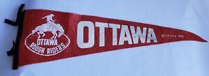 1970-OTTAWA-ROUGH-RIDERS-PENNANT-FLAG-CFL-FOOTBALL-VINTAGE-SPORTS-MEMORABILIA