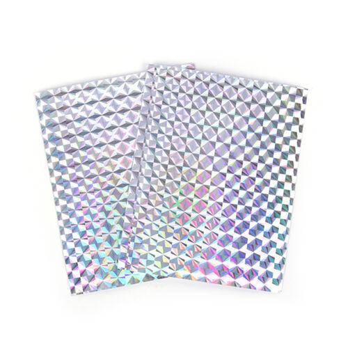 4x 10cmx7cm holographische Klebefolie Flash Tape für Lure Making FliegenbiRSDE