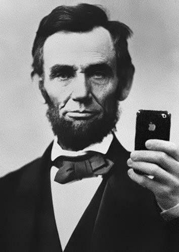 ABRAHAM LINCOLN SELFIE Poster Funny iPhone Wall Art Photo Print Pic Poster A3 A4