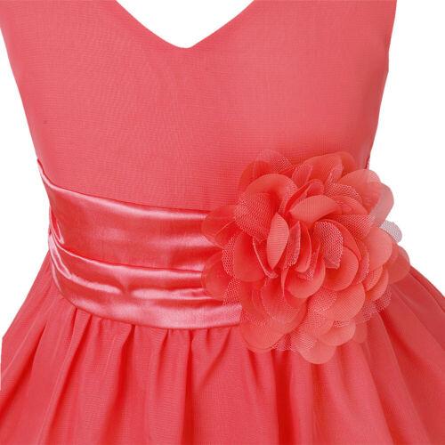 UK/_Flower Girl Dress Kids Chiffon Party Wedding Birthday Gown Holiday Tutu Dress