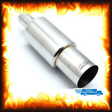 """3.5"""" Inch Stainless Big Bore Jap Style Exhaust Race Sports Rear Back Box Muffler"""
