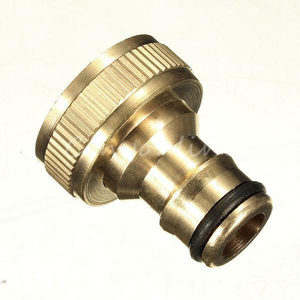 "3/4"" Male Brass Threaded Hose Water Pipe Connector Tube Tap Snap Adaptor Fitting"