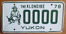 Yukon 1978 THE KLONDIKE MINER SAMPLE License Plate # 0000