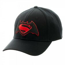 Batman vs Superman Dawn of Justice Cap Logo Black Flex baseball hat (Bioworld)