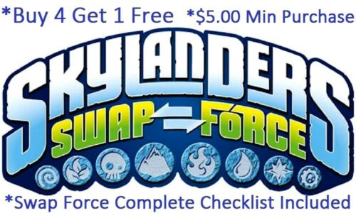 Skylanders Swap Force Complete Your Set with Checklist* Wii U PS4 Xbox 360 One