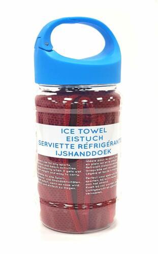 Reusable Cooler ICY Towel Bottle Sport Gym Outdoor Summer Clip LID CHILL Bottle