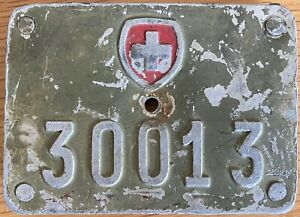 Switzerland Swiss Army Bicycle License Number Plate 30013