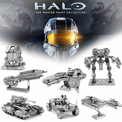 Halo Game 3D Metal Puzzles Guardians UNSC Scorpion Tank Action Figures Laser