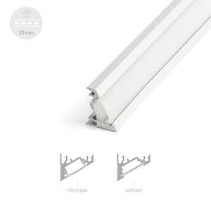 Details zu 100cm Profil für LED Streifen CORNER 30-60 Grad Eckprofile  Leiste Küche Profile