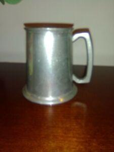 Genuine-English-Pewter-Tankard-Stein-Made-in-Sheffield-England-F-B-Rogers-Silver