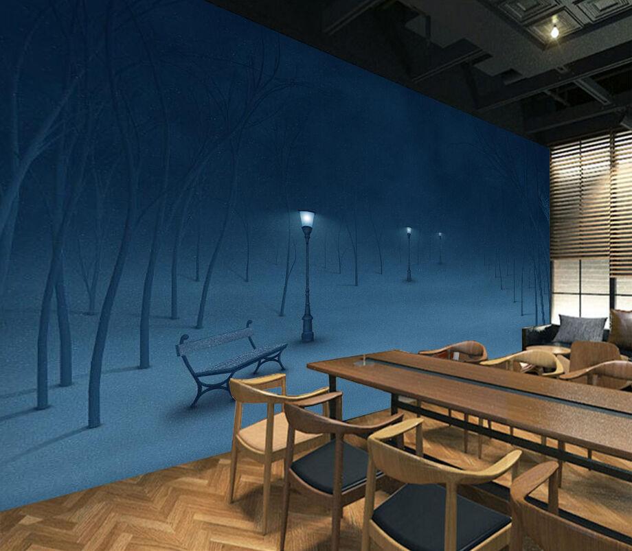 3D Nacht, Schnee 54 Fototapeten Wandbild Fototapete BildTapete Familie