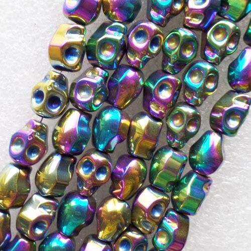 Beautiful 1 strand Hematite Skull loose bead 15.5inch LX51