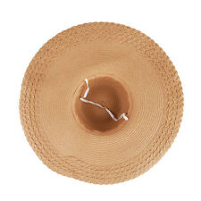US Women Wide Large Brim Floppy Summer Beach Sun Hat Straw Cap with Big Bow Cool