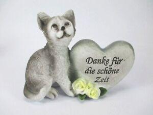 Grabstein-Katze-Cat-15-cm-Grabdeko-Friedhof-Danke-fuer-die-schoene-Zeit