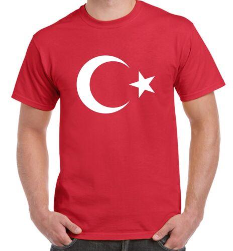 Turc coat of arms flag tee-shirt homme-football athlétisme turquie