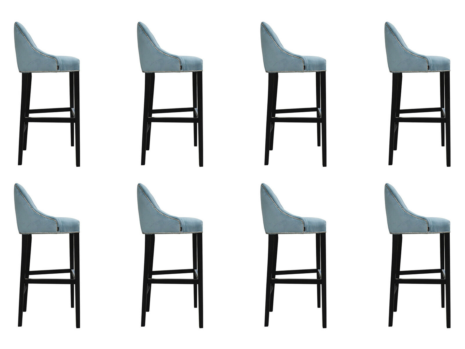 8x Design Tabouret Bar Bar Bar Fauteuil Coussin chaises ...