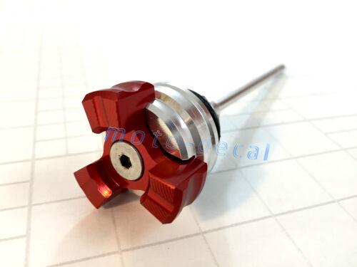 CNC High Quality Oil Dip Stick Fit Honda MSX125 Grom 2014-2019 2018 Chrome Red