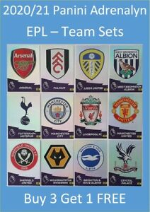 2020-21-Panini-Adrenalyn-EPL-Soccer-Cards-Base-Team-Sets-Buy-3-Get-1-FREE