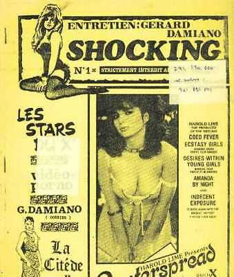 SHOCKING 1 cinema bis serie B GERARD DAMIANO Horror sexy curiosa French Fanzine