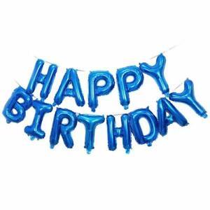 Blue-Happy-Birthday-Bunting-Banner-Foil-Balloon-Set-FREE-Straw-amp-Ribbon-5m