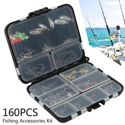 JSM 160pcs//box Fishing Accessories Kit Including Jig Hooks fishing  Sinker