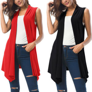Women-Sleeveless-Irregular-Loose-Casual-Cardigan-Coats-Knitting-Long-Top-Vest-US