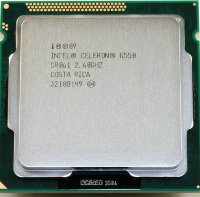 Intel CPU Celeron Dual Core G550 2.60GHz LGA 1155