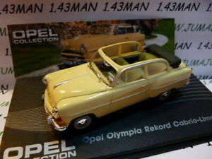 OPE5G-voiture-1-43-IXO-eagle-moss-OPEL-collec-Olympia-rekord-cabrio-1954-1956