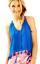 miniature 1 - Lilly Pulitzer Roxi Blue Crush Tassel Fringe Tie Neck Tank Top Blouse Size S
