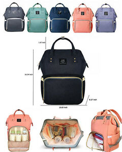 GENUINE LAND Multi-Functional Diaper Bags Mummy Backpack Changing Bag Baby Nappy