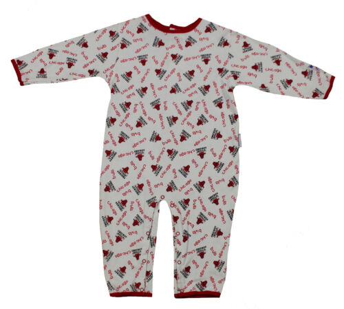 NBA Baby Boys Infants Chicago Bulls All-Over Print Pajamas Coveralls White