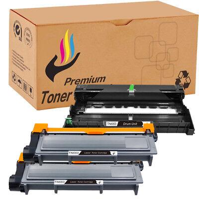 3PK TN660 Toner Cartridge DR630 Drum For Brother DCP-L2520DW L2540DW MFC-L2700