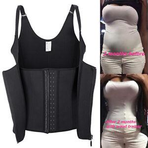 Details about Waist Trainer Trimmer Belts Wrap Stomach Fat Burner Body  Shaper Weight Loss Vest