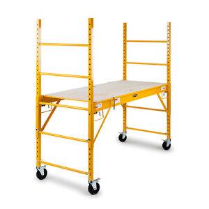 Baumr-AG LDRSCFBMRAA18 Steel Mobile Scaffold Ladder