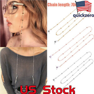 Sunglasses-Round-Beads-Glasses-Chain-Rope-Holder-Neck-Strap-Eyeglass-Necklace