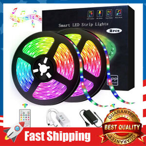 Music Sync Led Light Strip 16.4ft//32.8ft RGB LED Color Changing Waterproof