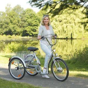 elektro dreirad seniorenrad 24 zoll fahrrad e bike elektrofahrrad 7 gang pedelec ebay. Black Bedroom Furniture Sets. Home Design Ideas