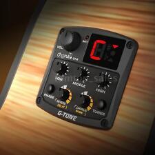 Acoustic Guitar Preamp Piezo Pickup 3-Band EQ Tuner Reverb/Delay/Chorus X9E2