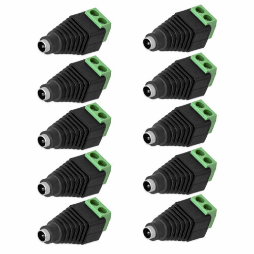 DC Buchse Verbinder Hohlbuchse 5,5mm Adapter Netzteil Kupplung Schrauben 2-20Stk