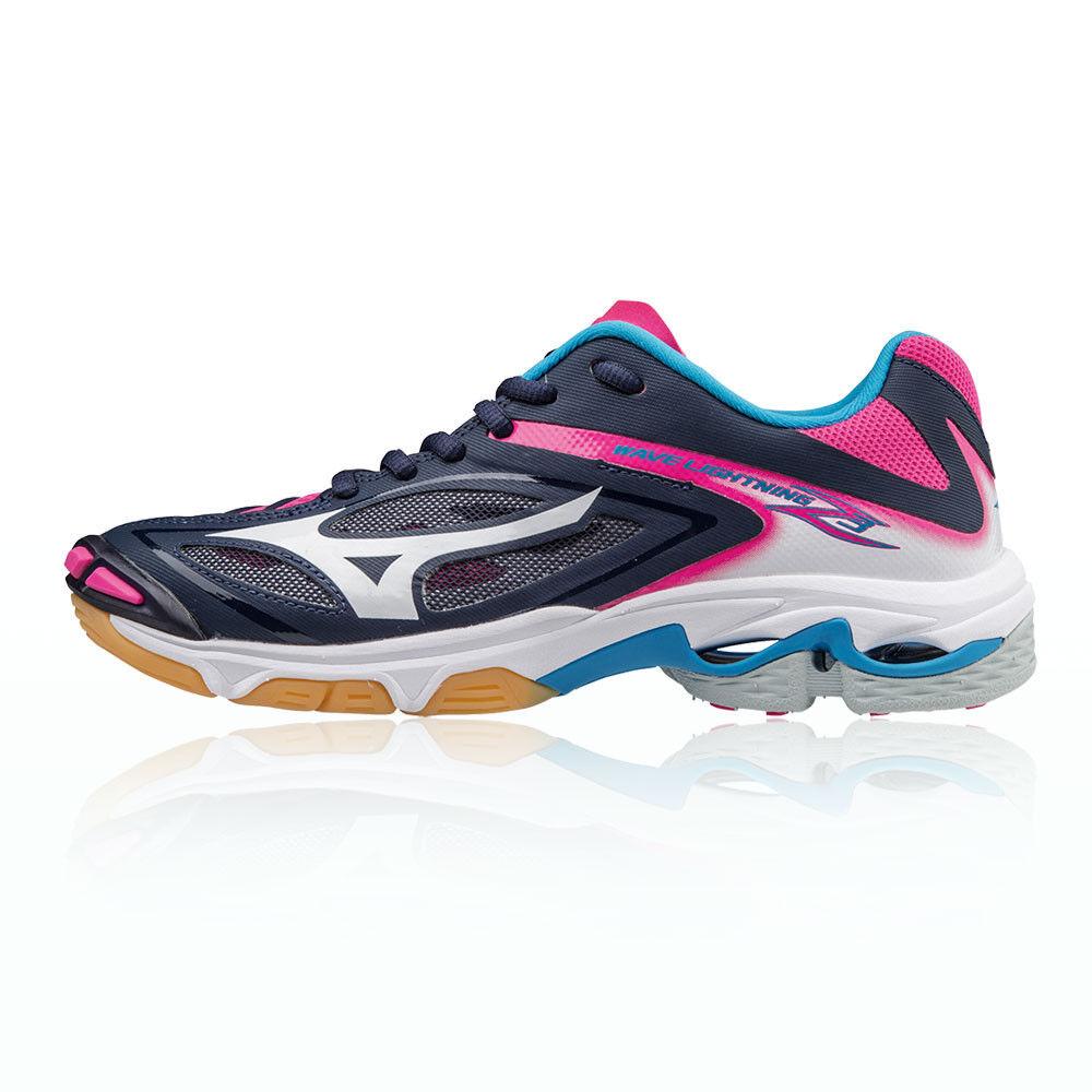 Zapatos promocionales para hombres y mujeres Mizuno Mujer Azul Rosa Wave Relámpago Z3 Interior Corte Zapatos Zapatillas