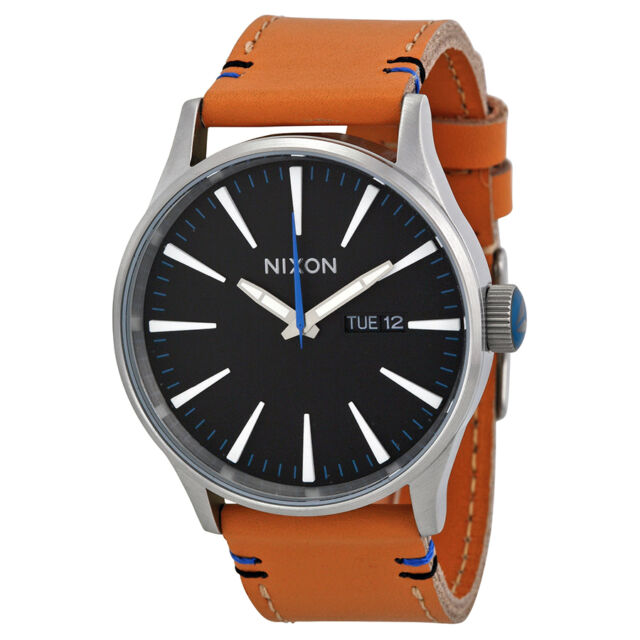 Nixon Sentry Tan Leather Mens Watch A1051602