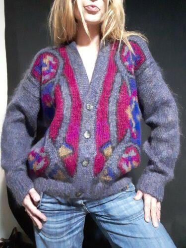 Vintage 1990's Oversized Geometric Mohair Cardigan